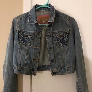 Crop top denim jacket